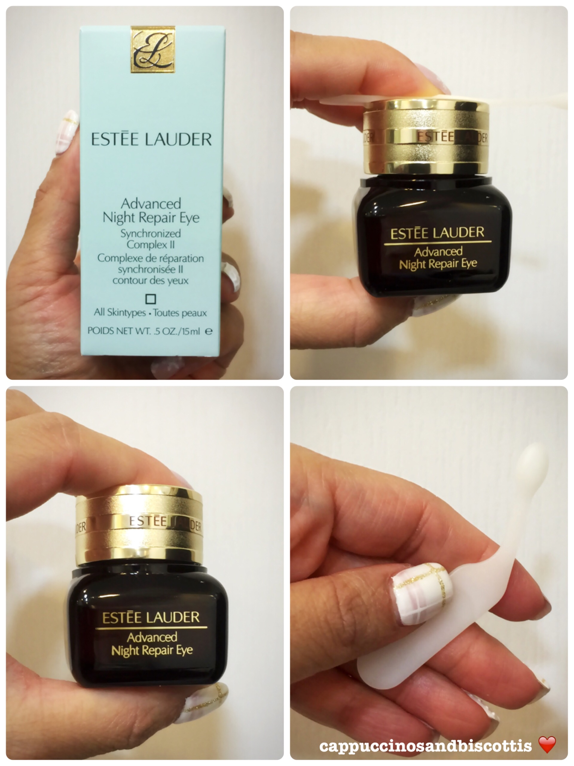 Estee Lauder Anr Ii Eye Cream Review Cappuccinos And Biscottis