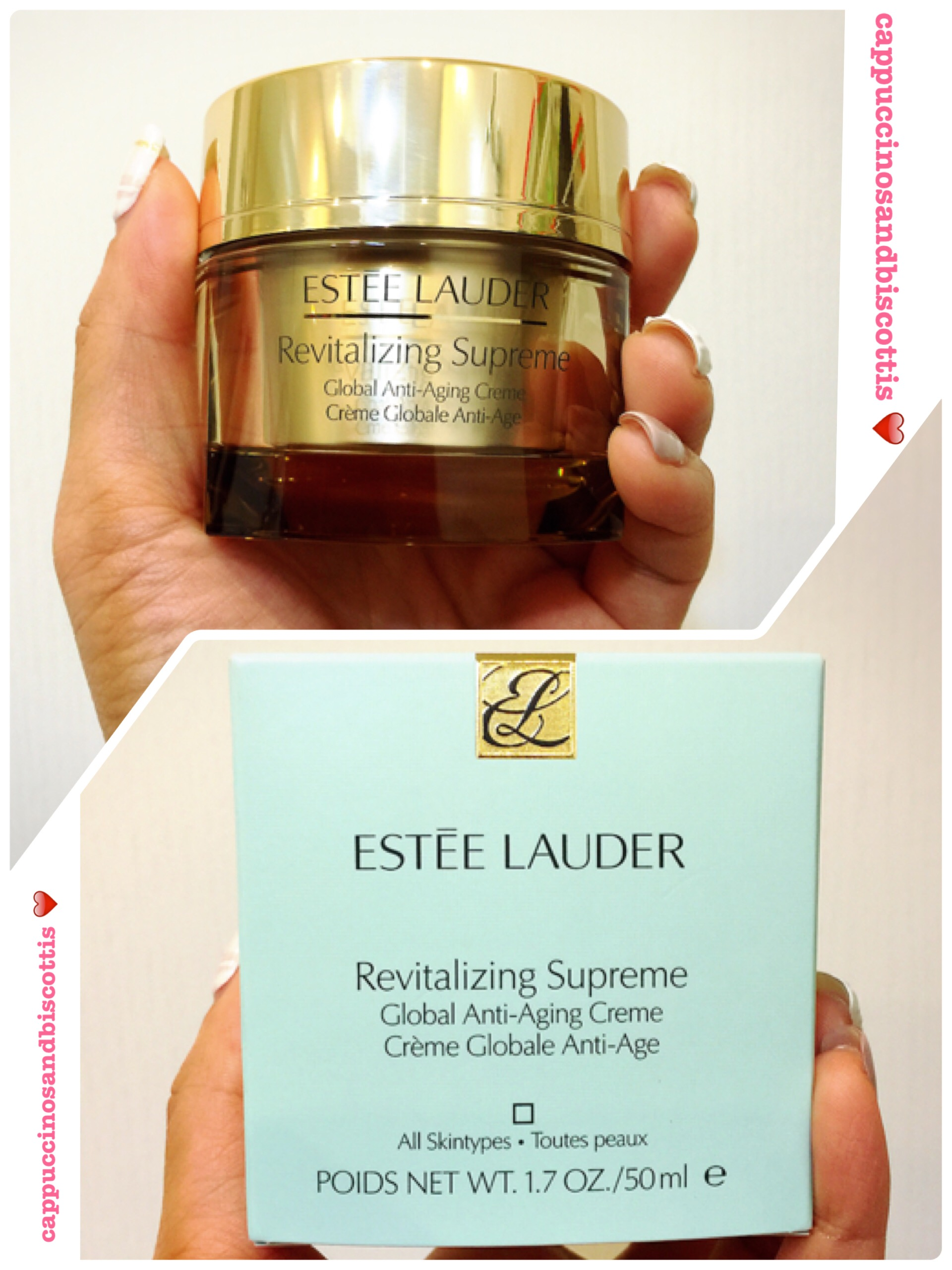 5eaeea0f348d4 Estée Lauder Revitalizing Supreme Global Anti-aging Face Cream Review –  cappuccinos and biscottis
