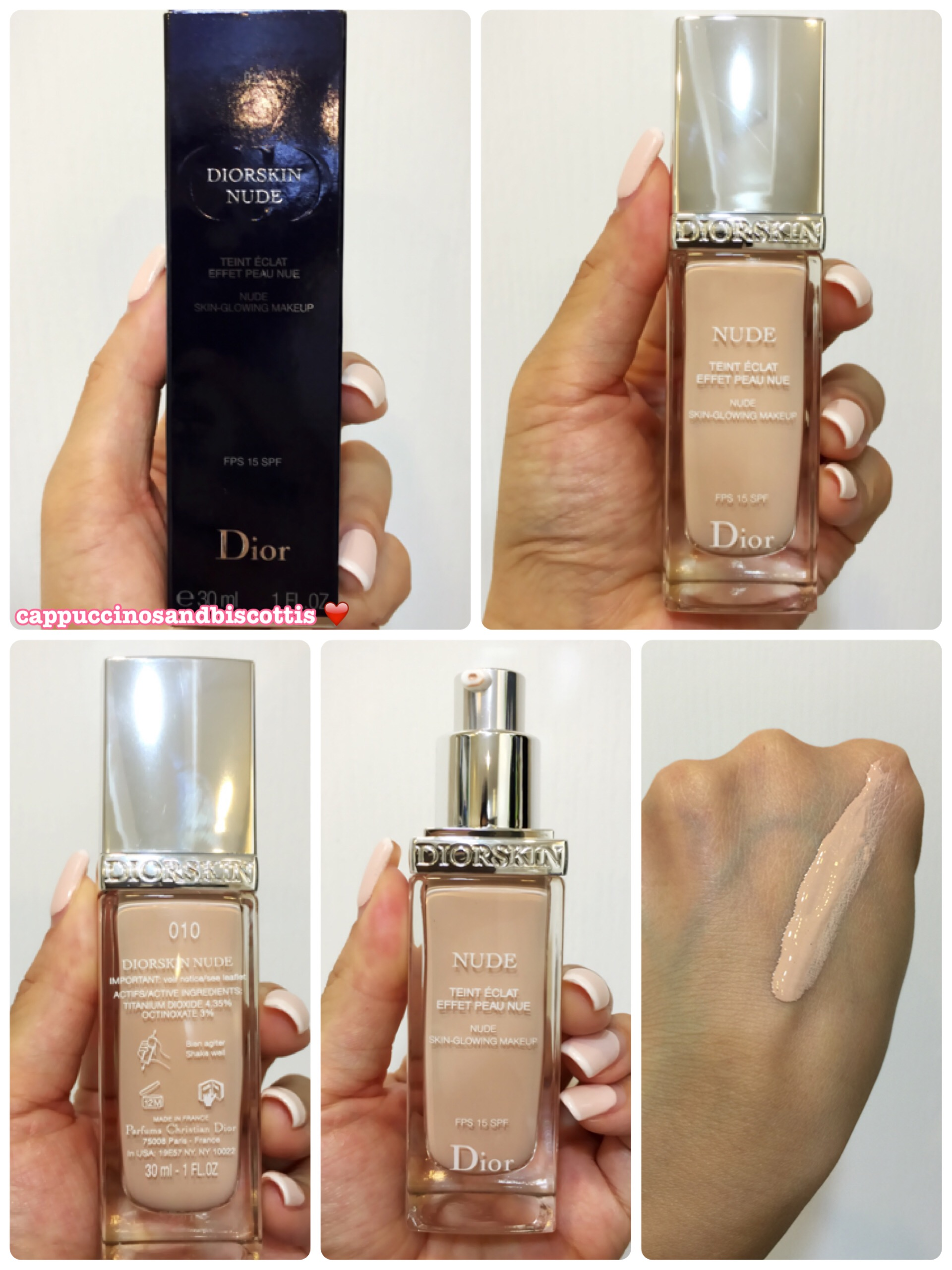 diorskin nude skin glowing makeup review cappuccinos and biscottis. Black Bedroom Furniture Sets. Home Design Ideas